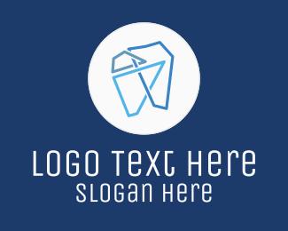 Orthodontist - Modern Geometric Tooth logo design
