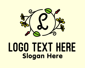 Beauty Vlog - Eco Organic Letter logo design