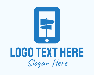 Guide - Blue Mobile Locator logo design