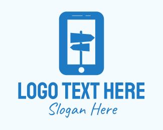 Guide - Blue Mobile Locator logo design