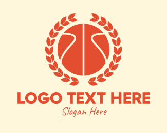 League - Basketball Wreath logo design