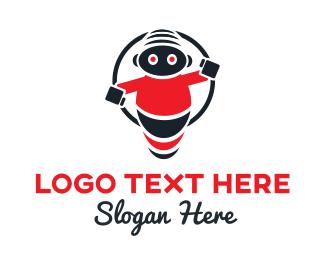 Cyborg - Kiddie Droid logo design