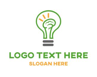 Mind - Brain Light logo design