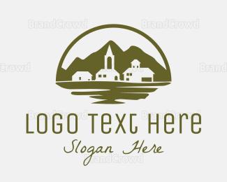Countryside - Village Landscape logo design
