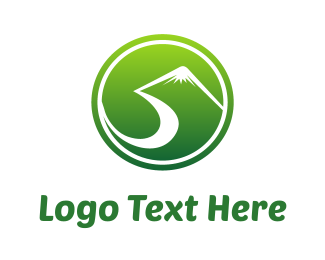 Number 5 - Green Hills logo design