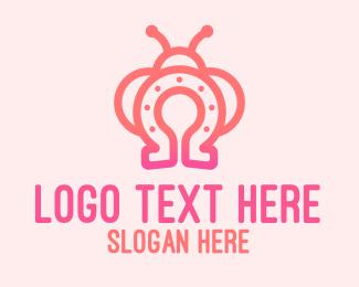 Lucky - Lucky Horseshoe Bug logo design