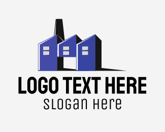 Production - Blue Factory logo design
