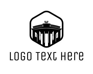 Germany - Brandenburg Gate logo design