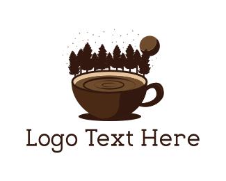 Hot Chocolate - Forest Coffee logo design