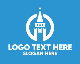 Holiday - Modern White Tower Castle logo design