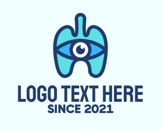 See - Blue Respiratory Eye Lungs logo design