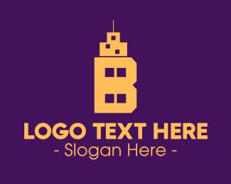 Tall - Tall Building Letter B logo design