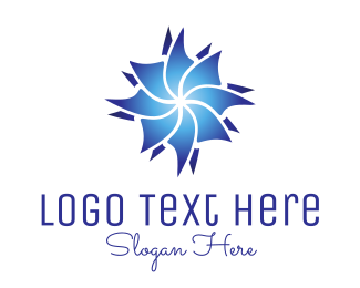 Beautify - Blue Flower logo design
