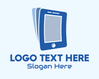 Online Learning - Mobile Device Pages logo design