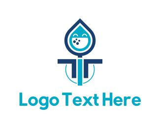 H2o - Happy Drop logo design