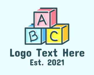 Baby Boutique - Baby Blocks Alphabet logo design