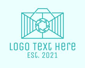 Letter - Geometric Rectangle  Camera logo design
