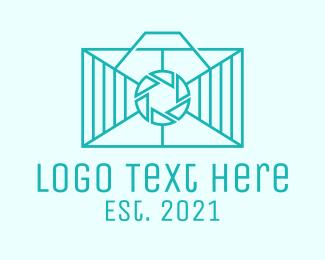 Rectangle - Geometric Rectangle  Camera logo design