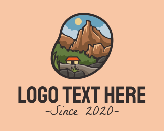Rock Formation - Trekking Adventure Campsite logo design