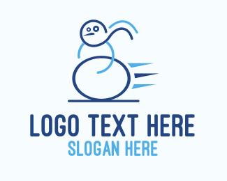 Fast - Fast Snowman logo design