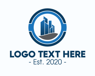 Property Developer - Blue Corporate Office Building logo design