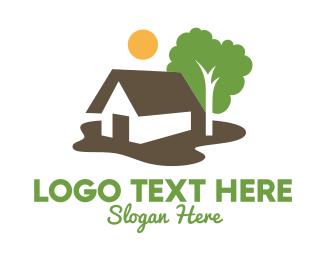 Green Living - Suburban Living Real Estate  logo design