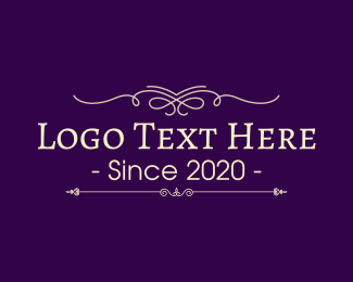 Traditional - Traditional & Purple logo design