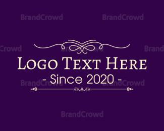 Traditional - Traditional & Purple logo design