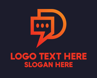 Message App - Modern Chat App logo design