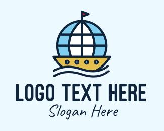 Boat - Global Seafarer Boat logo design