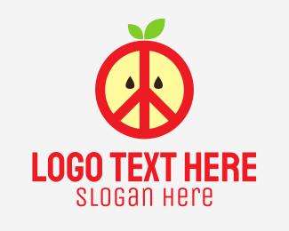 Peace Sign - Apple Peace Sign logo design