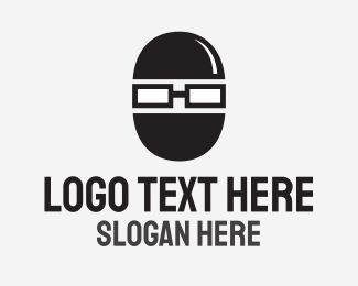 Nerd - Geek Robber logo design