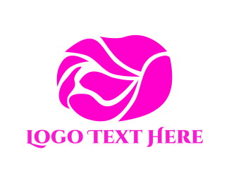Hot Pink - Pink Rose logo design
