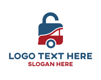 Secure - Padlock Safe Car logo design
