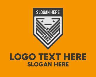 Shield - League Handshake Shield logo design
