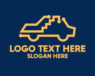 Taxi - Simple Yellow Taxi logo design