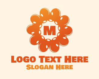 Radial - Bubbly Sun Lettermark logo design