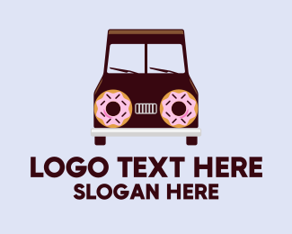 Van For Hire - Doughnut Van Delivery logo design