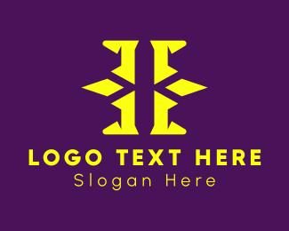 Letter H - Futuristic LetterH logo design
