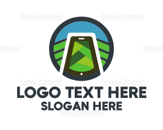 Website - Nature & Smartphone logo design