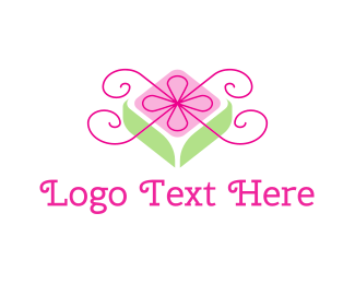 Gift Shop - Flower Gift logo design