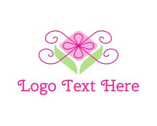 Present - Flower Gift logo design