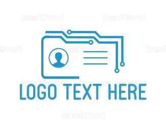 Biometric - Digital Card logo design