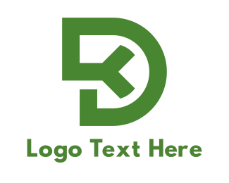 Capital - Green Modified D logo design