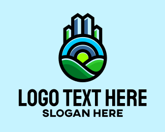 Real - Eco Friendly Real Estate  logo design