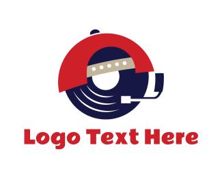 Hippie - Hipster DJ logo design
