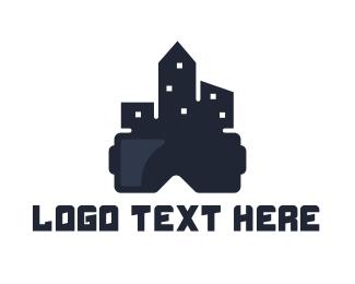 Vr - City VR logo design
