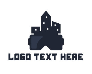 Augmented Reality - City VR logo design