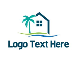 Florida - Tropical Housing logo design