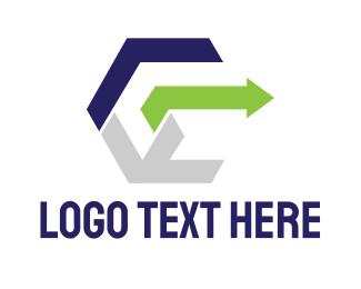 Business Solutions - Modern Cube E logo design